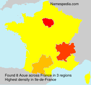 Surname Aoue in France