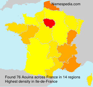 Surname Aouina in France
