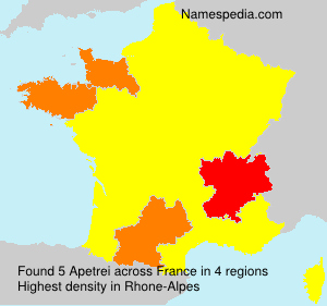 Surname Apetrei in France