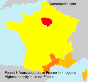 Surname Aranzana in France