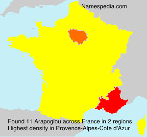 Surname Arapoglou in France