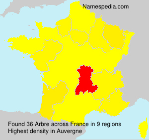 Surname Arbre in France