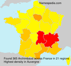 Surname Archimbaud in France