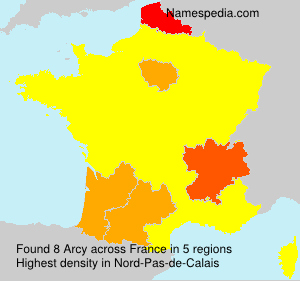 Surname Arcy in France
