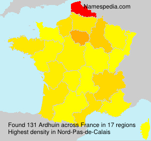 Surname Ardhuin in France