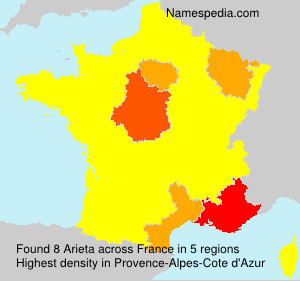Surname Arieta in France