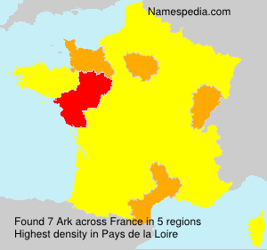 Surname Ark in France
