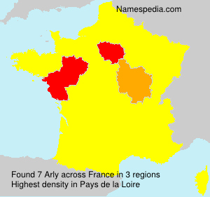 Surname Arly in France