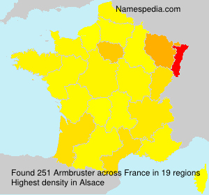 Surname Armbruster in France