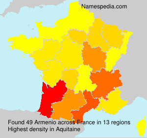 Surname Armenio in France