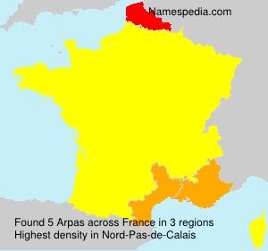 Surname Arpas in France
