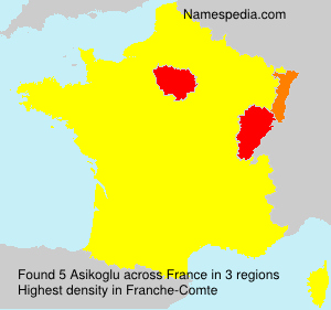 Surname Asikoglu in France