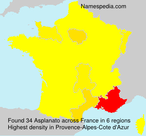 Surname Asplanato in France