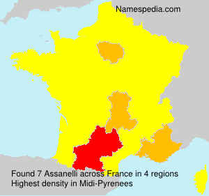 Surname Assanelli in France