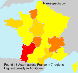 Surname Aston in France