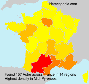 Surname Astre in France