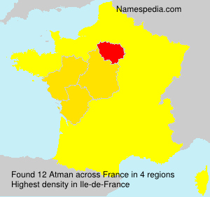 Surname Atman in France