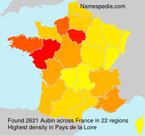Surname Aubin in France
