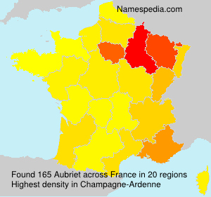 Surname Aubriet in France