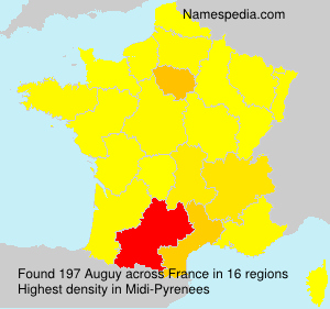 Surname Auguy in France