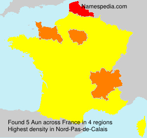 Surname Aun in France