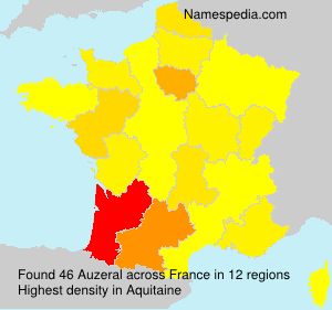 Surname Auzeral in France