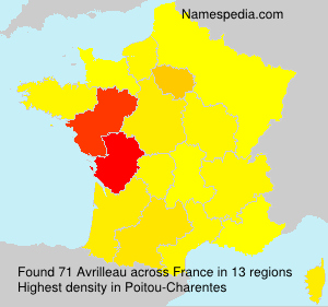 Surname Avrilleau in France