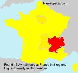 Surname Aymain in France