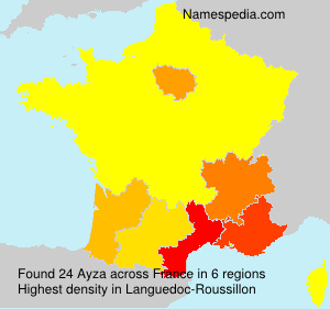 Surname Ayza in France
