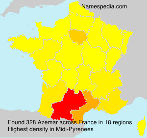 Surname Azemar in France