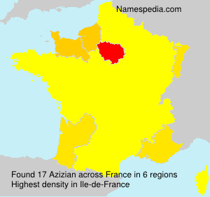 Surname Azizian in France