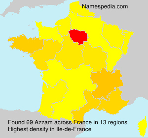 Surname Azzam in France