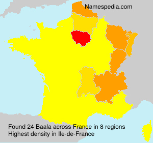 Surname Baala in France