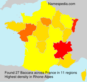 Surname Baccara in France