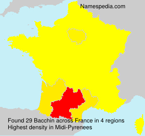 Surname Bacchin in France