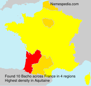 Surname Bacho in France