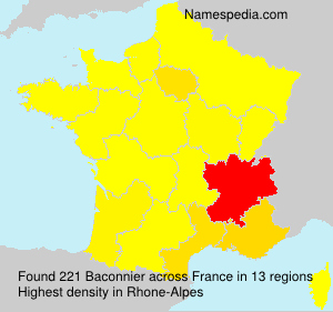 Surname Baconnier in France