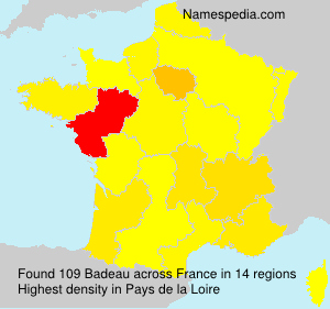 Surname Badeau in France