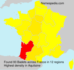 Surname Badets in France