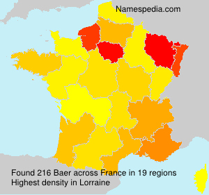 Surname Baer in France