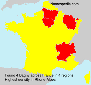 Surname Bagny in France
