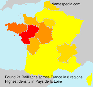 Surname Bailliache in France