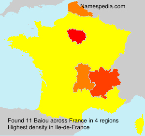 Surname Baiou in France