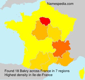 Surname Bakry in France