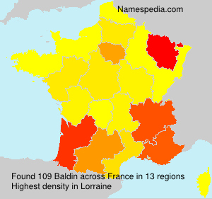 Surname Baldin in France