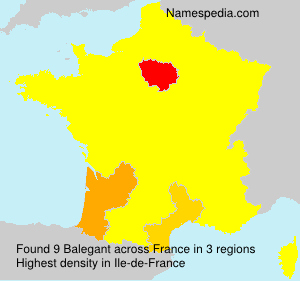 Surname Balegant in France