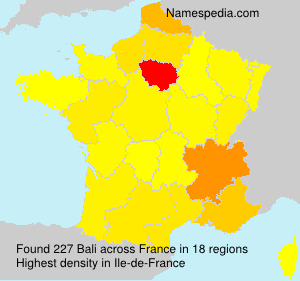 Surname Bali in France