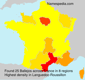 Surname Ballejos in France