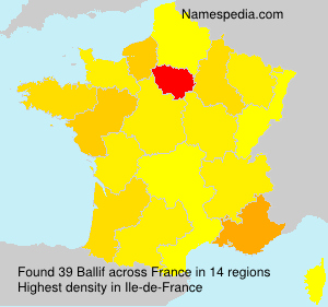 Surname Ballif in France