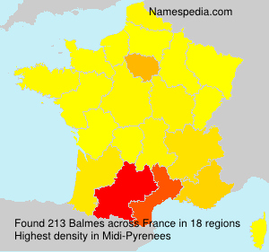 Surname Balmes in France